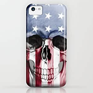 Society6 - American Skull iPhone & iPod Case by Adel