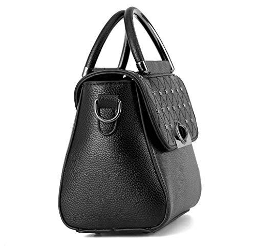 Taglia piccola tracolla borsa Borsa a Moontang Beige donna quadrata a tracolla Dimensione Borsa Classicblack donna Colore da unica Piccola borsa da gw08qU0