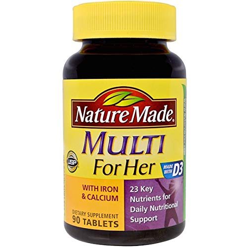 Nature Made Multi For Her with Iron & Calcium 90 ea (Pack of 2)