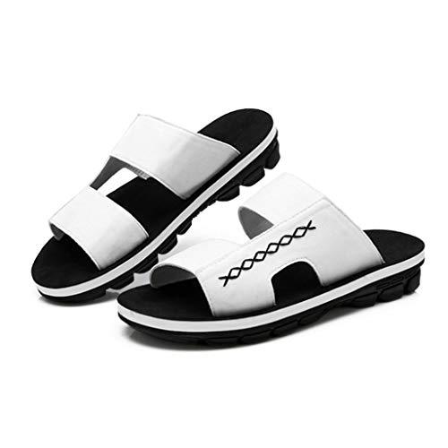 de Confortables de d'été Plage Pantoufles d'été Blanches Blanches Chaussures White d'été HXqxCCg
