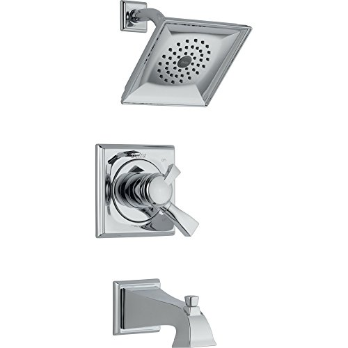 Delta Dryden Dual Control Chrome Tub and Shower Combination with Valve D484V