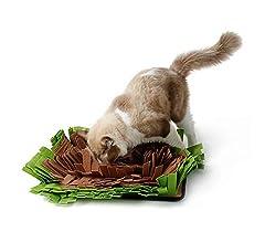 IEUUMLER Alfombrilla de alimentaci/ón Dog Snuffle Alfombrilla de Entrenamiento para Perros peque/ños y Grandes IE112 Brown