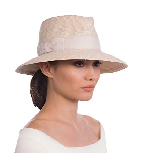Eric Javits Luxury Fashion Designer Women's Headwear Hat - Phoenix - Cream by Eric Javits