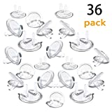 Outlet Plug Covers (36 Pack) Ultra Clear Child Proof Electrical Protector Safety Caps Electrical Socket Covers by Jackshadow