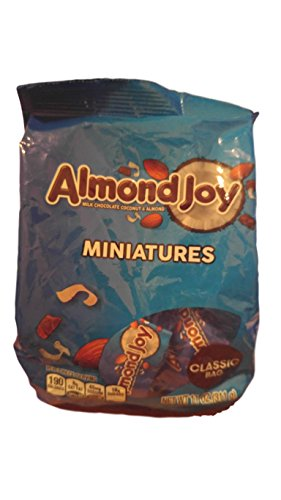 ALMOND JOY Miniatures Candy Bars, 11oz Classic Bag - 2 (11 Ounce Almond Treat)