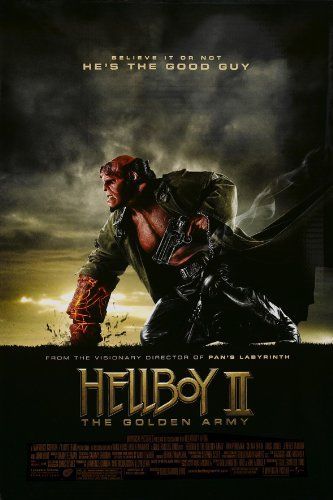 HELLBOY II 2 THE GOLDEN ARMY MOVIE POSTER ORIGINAL Mini Sheet 11x17