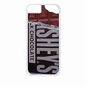 Bitten Chocolate Bar- Hard White Plastic Snap - On Case with Soft Black Rubber Lining-Apple Iphone 5 - 5s - Great Quality!