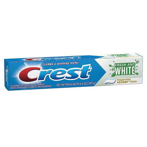 Crest Gleem Fresh and White Fluoride Anticavity Toothpaste,