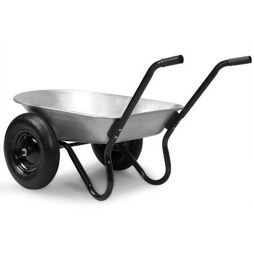 Brouette-de-jardin-2-roues-Capacit-150kg-100-Litres-Panier-de-Jardin-Jardinage-Construction