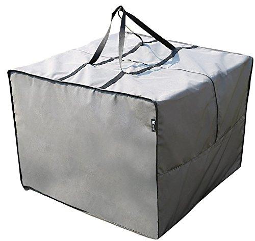 Copri Copertura Cover Protezione per Cuscini del set Lounge | 125 x 32 x 50 cm (L x P x A/A) | Grigio | Semi-IIdrorepellente | SORARA | Poliestere con strato in poliuretano | Per Mobili da Giardino, Terrazzo, Cortile | Qualità Alta