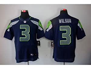 Seattle Seahawks 3 Russell Wilson Elite Blue Jersey (40)
