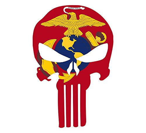 Ega Decal - Marine Corps EGA Punisher skull- Window Decal Vinyl Sticker 6