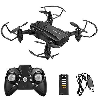 NOBRAND Mini Drone Helicopter para niños Powcan RC Drone Flying Toys 2.4G Quadcopter de Control Remoto con 2 baterías, Altitude Hold, Modo sin Cabeza, 3D Flips, One Key Return a buen precio