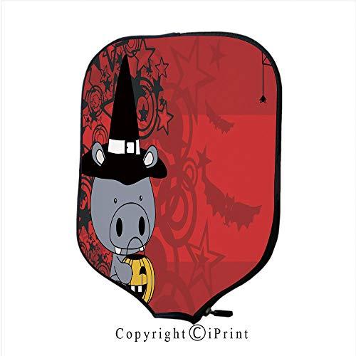 Neoprene Sports Pickleball Paddle Cover Sleeve,Cute Little Baby Koala Cartoon Halloween Costume backgr(Size:8.23