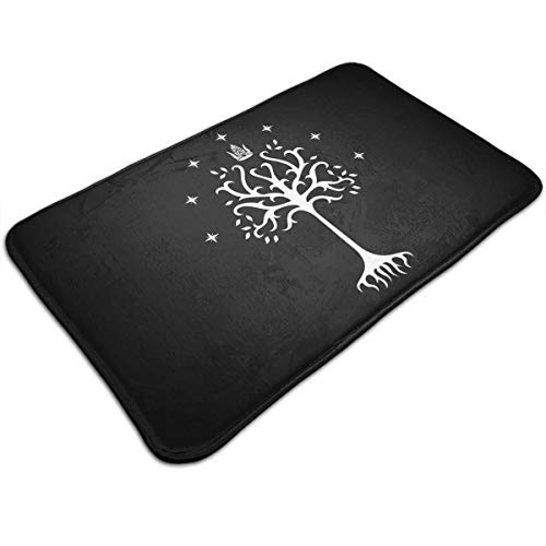 Decora11e The Lord of The Rings Tree of Gondor Non Slip Absorbent Bath Rug 20''x 32'' Bath Mat Doormat Carpet for Indoor/Outdoor/Kitchen/Entry/Bathroom ()