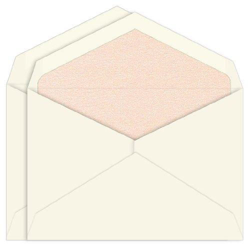 (Nude Metallic Lined Inner Outer Envelopes, Jumbo Ecru, 25 Pack )