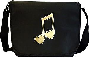 Music Notation Heart Quavers - Sheet Music Document Bag Musik Notentasche...