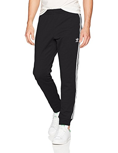 Slim Stripe Pant (adidas Men's Originals Superstar Track Pants, Black, L)