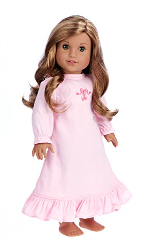 DreamWorld Collections - Sweet Dreams - Pink Nightgown for 18 Inch Doll Like American Girl Doll (Doll Not Included)