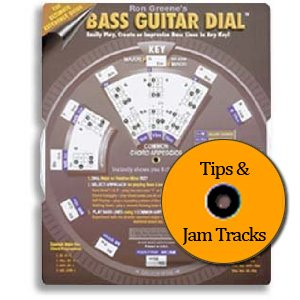 Bass Guitar Accompaniment Dial & CD - Chord Arpeggios for Playing Songs in Each Key (Bass (Playing Chords Bass)