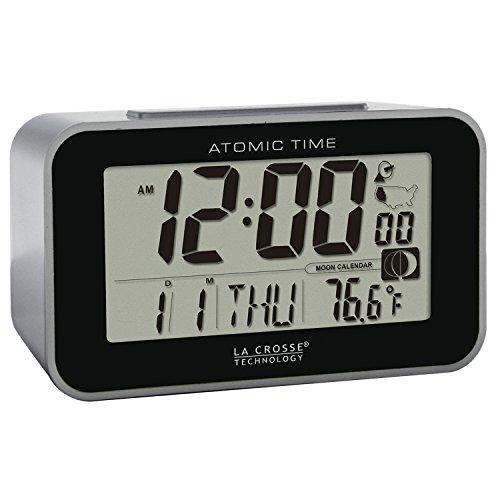 La Technology Atomic Alarm Clock, Black