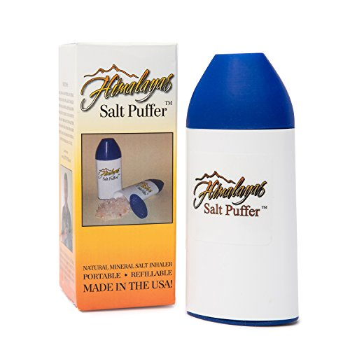 Himalayan Salt Inhaler With Salt included -Portable Refillable Respiratory Wellness for Asthma – Sinus Allergies