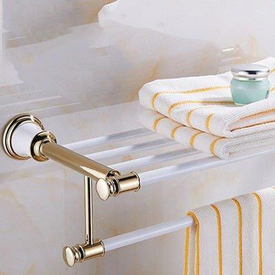 Hlluya Toallero Toallas de baño Solo con Polvo de Oro Blanco ...