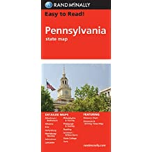Easy To Read: Pennsylvania State Map (Rand McNally Easy to Read!)