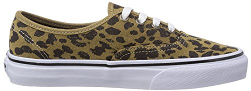 Vans U Authentic - Zapatillas unisex Beige ((Leopard Suede) EUB)