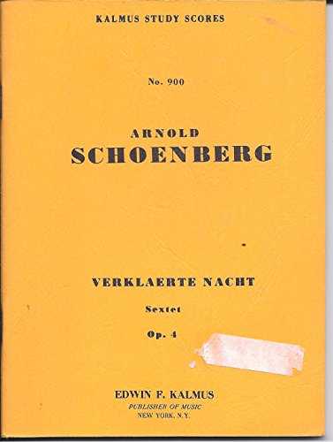 Verklaerte Nacht, Op. 4: Miniature Score (Miniature Score) (Kalmus Edition) by Alfred Music