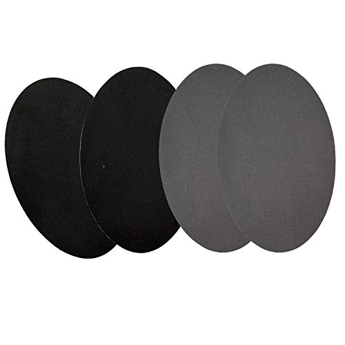 Czorange Iron On Patches Repair Patches for Clothing Black Patches Gray 4 Pack