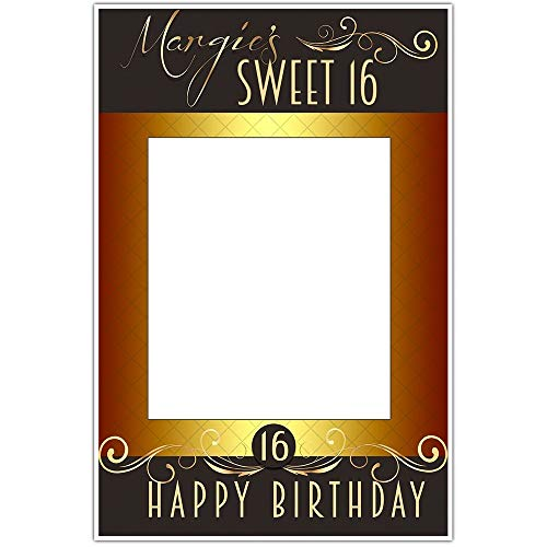 Sweet Sixteen Birthday Party Selfie Frame Social Media Frame Photo Booth Prop Poster
