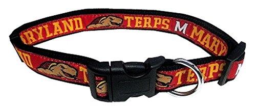 Pets First Collegiate Pet Accessories, Dog Collar, Maryland Terrapins, Medium