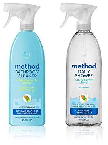 Method Shower Daily Cleaner (Method Variety Pack of Tub & Tile Bathroom Cleaner And Daily Shower Cleaner 28 oz of Each)