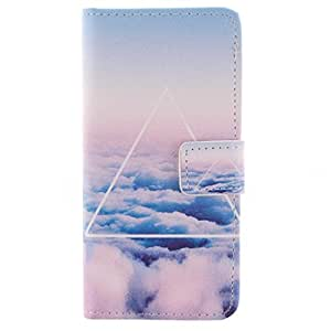 Blue Sky Cute Wallet Card Holder PU Leather Durable Flip Pouch Case Cover for SONY xperia T3 M50W