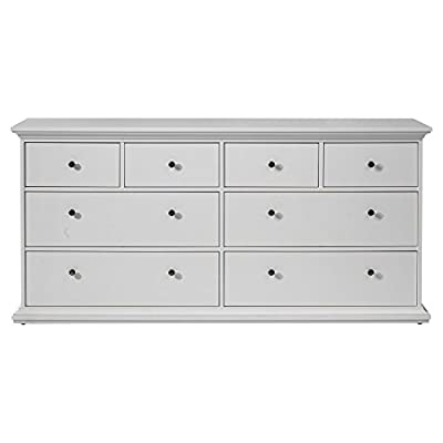 Tvilum Sonoma 8 Drawer Double Dresser - White - Additional limited-time savings reflected in current price Dimensions: 72.25W x 19D x 34.25H inches Eco-friendly dresser made with sustainable wood - dressers-bedroom-furniture, bedroom-furniture, bedroom - 41gUzi8S2yL. SS400  -