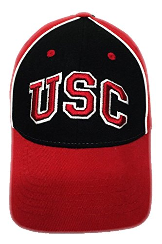 - NCAA University of Southern California Trojans USC Black Red Hat Cap NWT Adjustable Strap