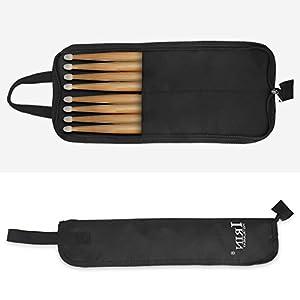 Drum Stick Bag, Oxford Cloth Water-Resistant Percussion Drum Stick Mallet Storage Bag Case Holder Drum Upgrade Part