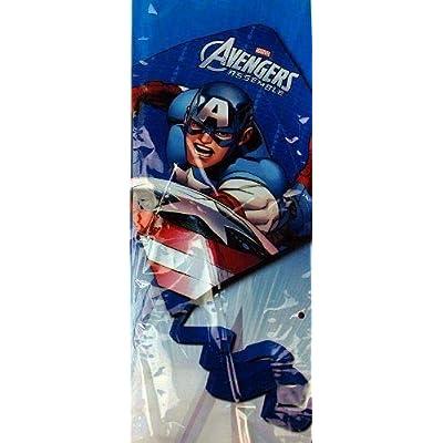 What Kids Want Marvel Avengers Assemble - Captain America 22.5 in Diamond Kite: Toys & Games