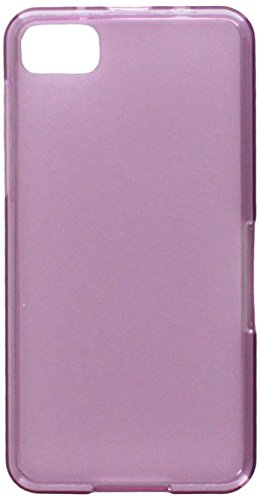MyBat Semi Transparent Candy Skin Cover (Rubberized) for Blackberry Z10 - Retail Packaging - Purple