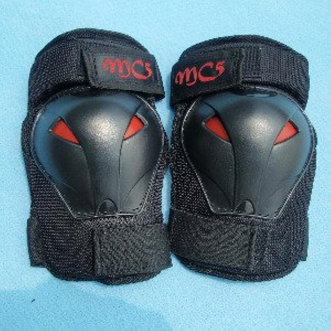 差し引く風景またインライン スケボー スケートボード プロテクター 6点セット(手首?肘?膝)汗拭きタオル付き赤黒 青黒