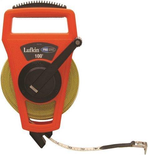 Lufkin Professional Series PSFE100  Hi-Viz Linear Open Reel Fiberglass Tape - 3/4-inch X 100-foot