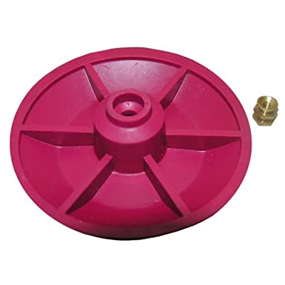 LASCO 04-1607 Red Chemical Resistant Combo Seat/Disc Fits Both Snap and Screw On Toilet Flapper for American Standard Actuators