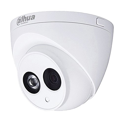Dahua PoE IP Security Camera 4 Megapixels Super HD 2688×1520 Outdoor Surveillance Camera Dome, IPC-HDW4433C-A 2.8mm Lens With Built-in Mic Better Night Vision H.265 HD IP67 Weatherproof ONVIF