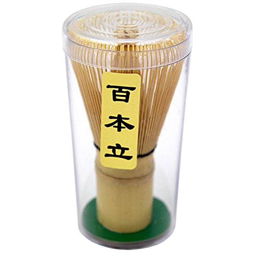 Bamboo Whisk (Chasen) and Hooked Bamboo Scoop (Chashaku) - Matcha Tea Whisk for Matcha Tea Preparation - MatchaDNA Brand - Traditional Matcha Whisk Made from Durable and Sustainable Golden Bamboo by MatchaDNA (Image #9)