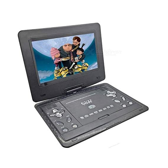 """ABB INDIA Solutions & Services 13.9"""" LCD 3D Portable EVD DVD Player with Dolby Stereo Sound (Black)"""