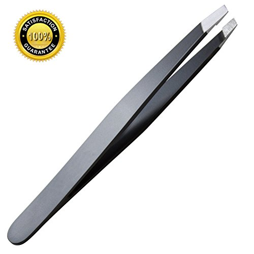 1 pcs Slant Tweezer - Professional Stainless Steel Slant Tip Tweezer, The Best Precision Eyebrow Tweezers- Perfect for Eyebrows and Unwanted Hair