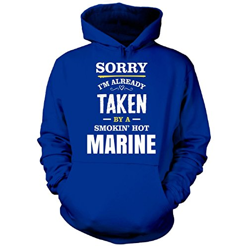 Inked Creatively Sorry I'm Taken By A Smokin' Hot Marine - Hoodie Royal S
