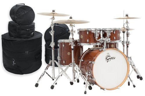 Gretsch Catalina Maple 5 Piece Drum Kit w/ Padded Bags-Walnut (Gretsch Catalina Maple 5 Piece)