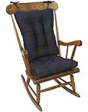 Klear Vu Tyson XL Gripper Non-Slip Extra Large Overstuffed Rocking Chair Pad Set